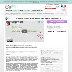 """Introduction au MOOC """"Le meilleur du web"""" (Module 1.1) - Compétences numériques"""