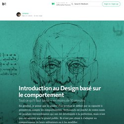 Introduction au design basé sur le comportement — Officielle France