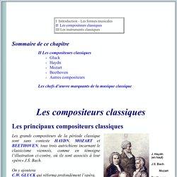 INTRODUCTION A LA MUSIQUE CLASSIQUE Les compositeurs de la période classique