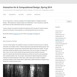 Interactive Art & Computational Design, Spring 2014