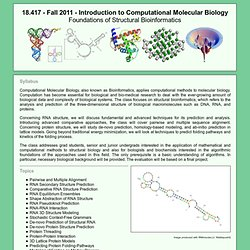 18.417: Introduction to Computational Molecular Biology