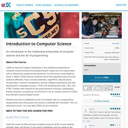 CS50: Introduction to Computer Science