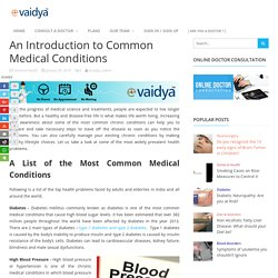 An Introduction to Common Medical Conditions