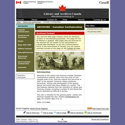 Introduction - Canadian Confederation