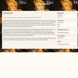 Introduction - Comment DIOR, grâce à ses publicités, influence les consommateurs?