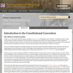 Introduction to the Constitutional Convention