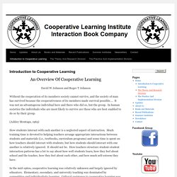Introduction to Cooperative Learning | Cooperative Learning Institute And Interaction Book Company