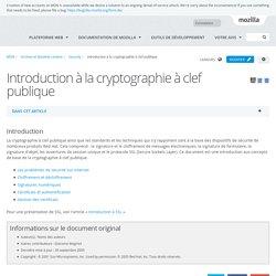 Introduction à la cryptographie à clef publique