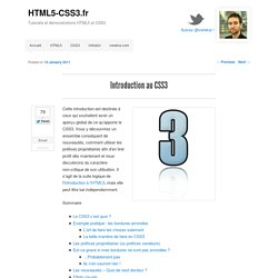 Introduction au CSS3