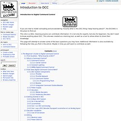 Introduction to DCC - DCCWiki