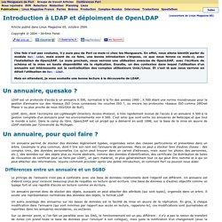 OpenLDAP - Introduction à LDAP et déploiment