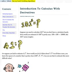 Introduction To Calculus With Derivatives