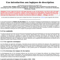 Une introduction aux logiques de description