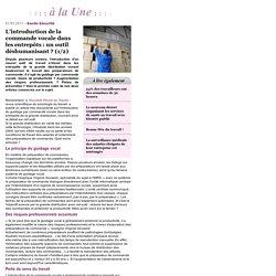 L'introduction de la commande vocale dans les entrepôts : un outil déshumanisant ? (1/2) - à la Une - actuEL-HSE.fr