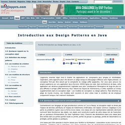 Introduction aux Design Patterns en Java