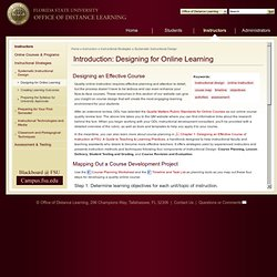 Introduction: Designing for Online Learning