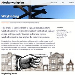 Introduction to Wayfinding and Signage design