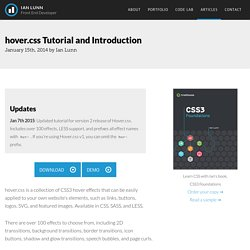 hover.css Tutorial and Introduction - Ian Lunn - Front End Developer