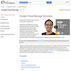 Introduction - Google Cloud Storage - Google Code