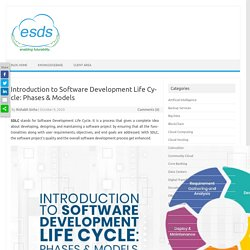 Introduction to Software Development Life Cycle: Phases & Models