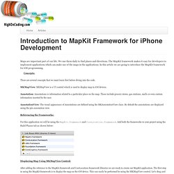 Introduction to MapKit Framework for iPhone Development