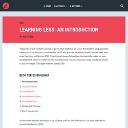 Learning LESS: An Introduction