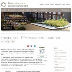 Introduction - Développement durable en entreprise