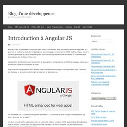 Introduction à Angular JS