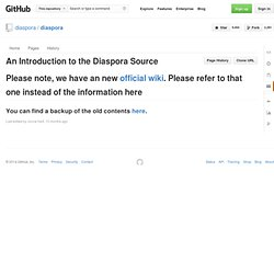 An introduction to the diaspora source - diaspora - GitHub