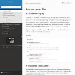 Introduction to Pika — pika 0.10.0 documentation