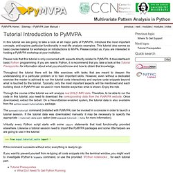 Tutorial Introduction to PyMVPA — PyMVPA 2.3.0 documentation