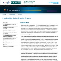 «Les fusillés de la Grande Guerre»-Pour mémoire-CNDP