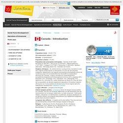 Introduction du Canada