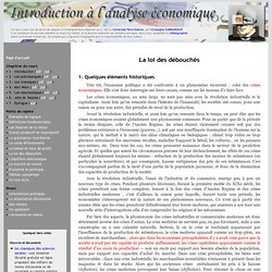 Introduction à l'analyse économique