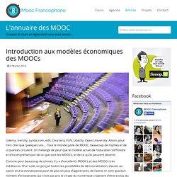 Introduction aux modèles économiques des MOOC