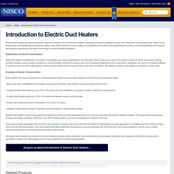 Introduction to Electric Duct Heaters