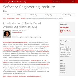 An Introduction to Model-Based Systems Engineering (MBSE)