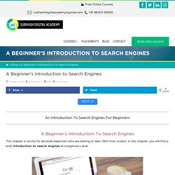 Introduction To Search Engines - A Beginner's Guide