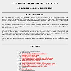 INTRODUCTION TO ENGLISH PAINTING