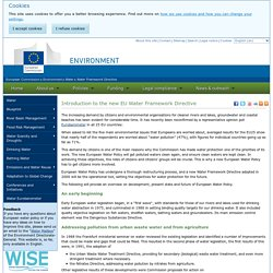 Introduction to the new EU Water Framework Directive  - Environment