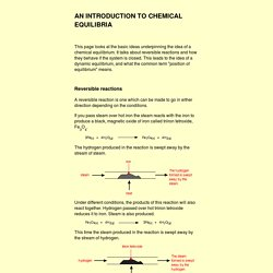 an introduction to chemical equilibria