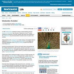 Introduction: Evolution - life - 04 September 2006