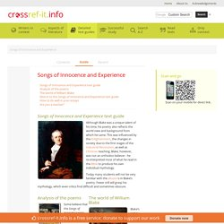 Introduction » Songs of Innocence and Experience Study Guide from Crossref-it.info