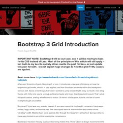 Bootstrap 3 Grid Introduction