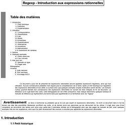 Regexp - Introduction aux expressions rationnelle