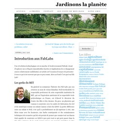Introduction aux FabLabs