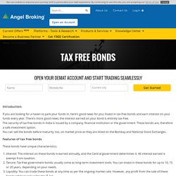 Everything on Tax Free Government Bonds at Angel Broking