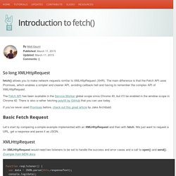 Introduction to fetch()