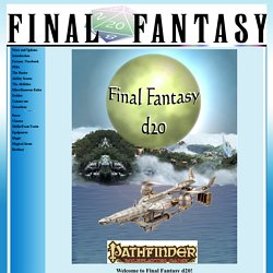 Introduction - Final Fantasy d20
