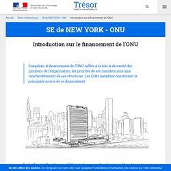 Introduction sur le financement de l'ONU - SE de NEW YORK - ONU